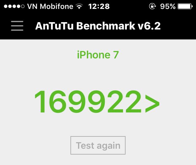 Điểm Antutu Benchmark trên chiếc điện thoại
